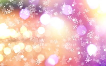 feestelijk: Decoratieve kerst achtergrond met sneeuwvlokken en sterren