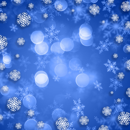 blue christmas background: Snowflakes on a blue Christmas background Stock Photo