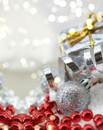 bokeh lights: Christmas decorations with bokeh lights