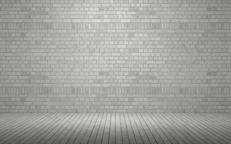 ladrillo: 3d rinden de una pared de ladrillo expuesto