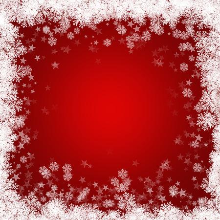 estrellas de navidad: Fondo de Navidad rojo con copos de nieve y estrellas
