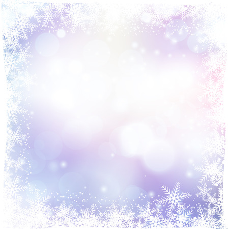 snow background: Christmas background with snowflake border