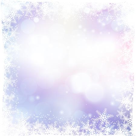 flocon de neige: fond de Noël avec la frontière de flocon de neige Banque d'images