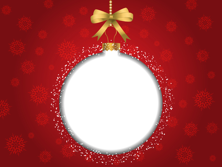 blank space: Christmas bauble background with blank space for text Stock Photo
