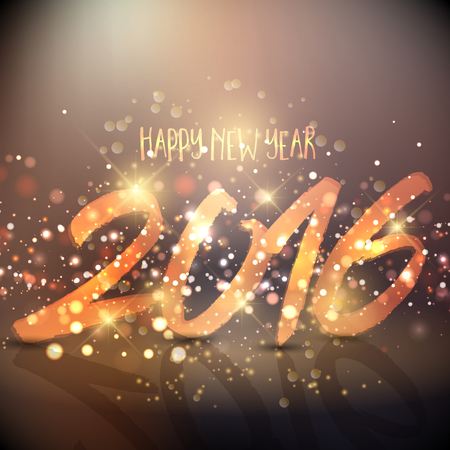 sparkly: Sparkly background design for the Happy New Year Stock Photo