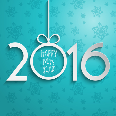 happy new year: Happy New Year background with typography design Stock Photo