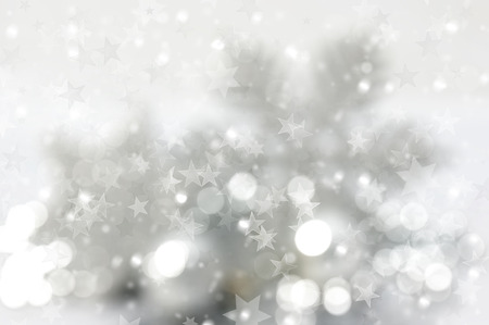 bokeh lights: Christmas background of stars and bokeh lights