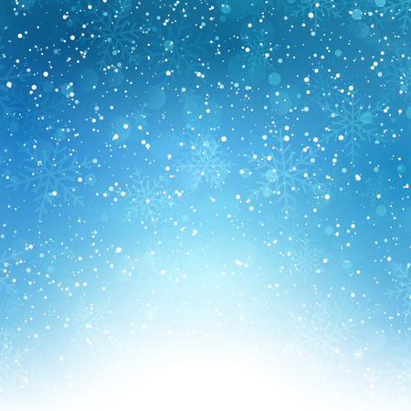 schneeflocke: Decorative Christmas Background with snowflakes