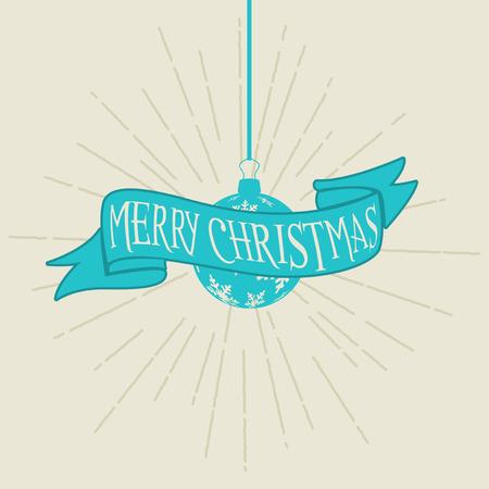 retro: Retro styled Christmas background Stock Photo