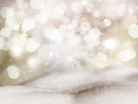 mounds: Christmas background with mounds of snow Stock Photo