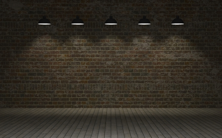 exposed: 3d render of an Exposed brick wall Stock Photo