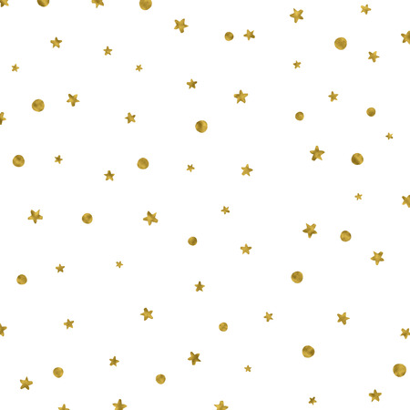 star pattern: Christmas background with gold stars and spots