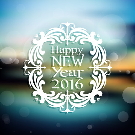 defocussed: Happy New Year background with defocussed background