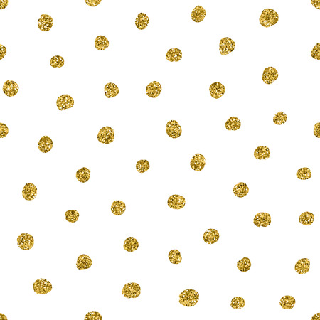 dot pattern: Abstract polka dot pattern with gold glitter effect Stock Photo