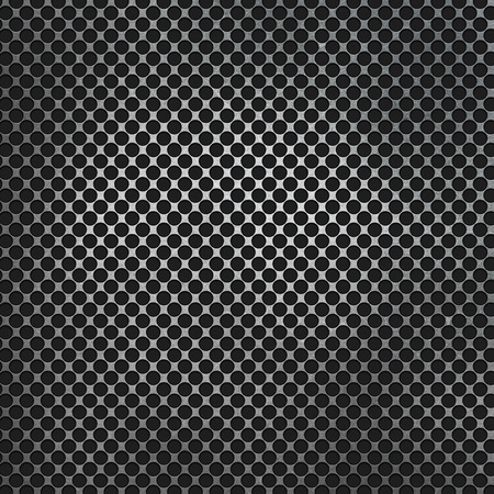 dent: Perforated metal on a carbon fibre background