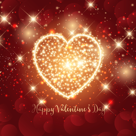 sparkly: Valentines Day background with sparkly heart design