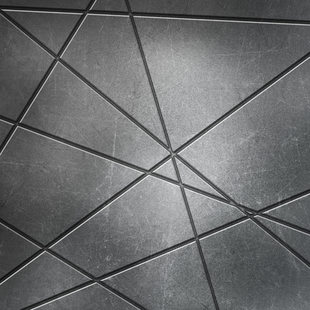 outs: Metallic background with cut outs and scratches and stains
