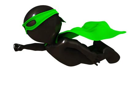 render: 3D Render of Morph Man  super hero