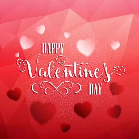 eps10: Decorative Valentines Day background with hearts Stock Photo