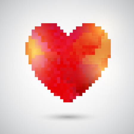 pixelated: Pixelated heart design for Valentines Day Stock Photo