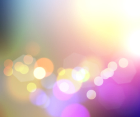 defocussed: Colourful background with bokeh lights design