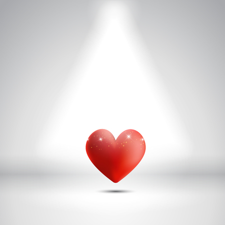 heart under: Valentines Day background with a heart under a spotlight