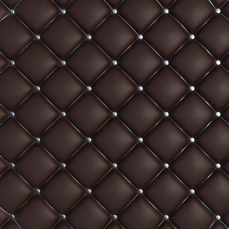 leather background: 3D Render of Quilted Leather Background