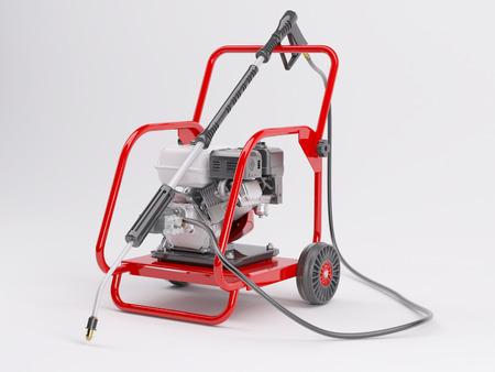 pressure washing: 3d render of a pressure washer