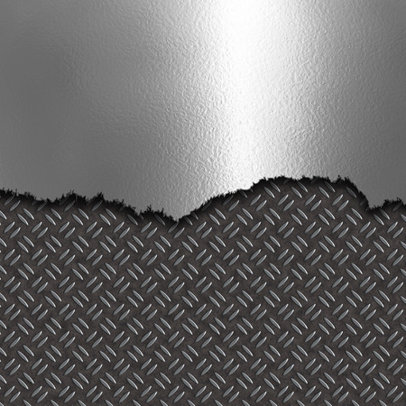 diamond plate: Damaged chrome metal on a diamond plate texture background