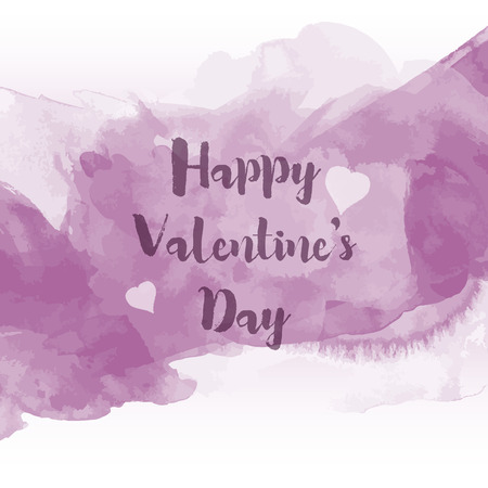 watercolour: Decorative Valentines Day background with watercolour design
