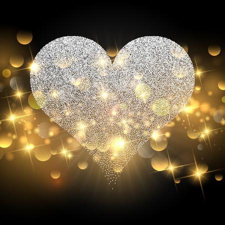 valentines day: Decorative Valentines Day background with sparkle design