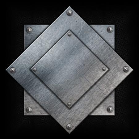 tornillos: Las placas de metal con las tuercas en un fondo del grunge Foto de archivo
