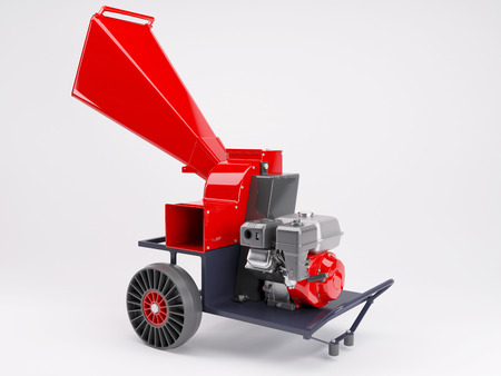 shredder machine: 3d render of a garden shredder