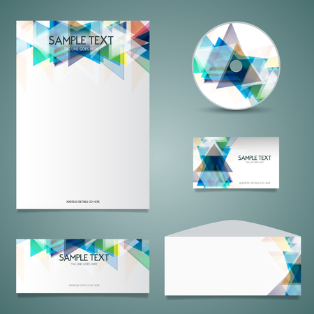 compliments: Business stationery design wih geometric design