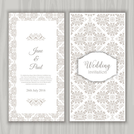 wedding celebration: Decorative design for a wedding invitation