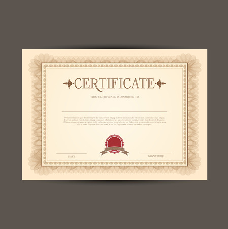 certify: Certificate or Diploma template background Stock Photo