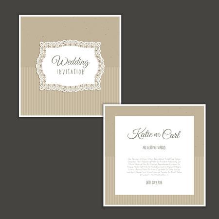wedding invitation vintage: Vintage design of a wedding invitation