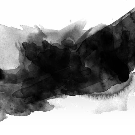aquarelle: Résumé fond noir aquarelle tache
