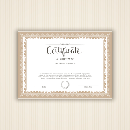 certify: Decorative certificate  or diploma background