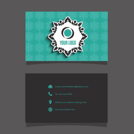 modern business: Modern business card layout design