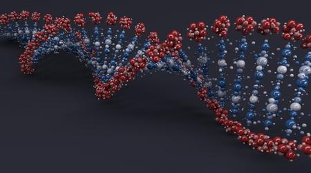 macromolecule: 3D Render of a DNA Helix Stock Photo