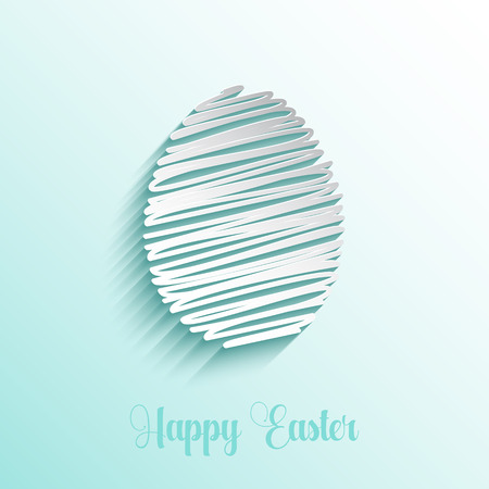 scribble: Easter background with scribble style egg design Stock Photo