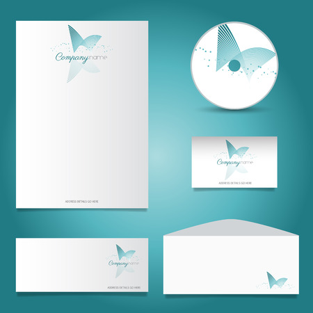 stationery set: Business stationery set with decorative design