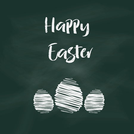 black boards: Easter background with text on chalkboard design