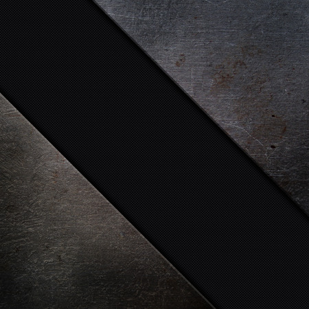 fibre: Grunge metal and carbon fibre background