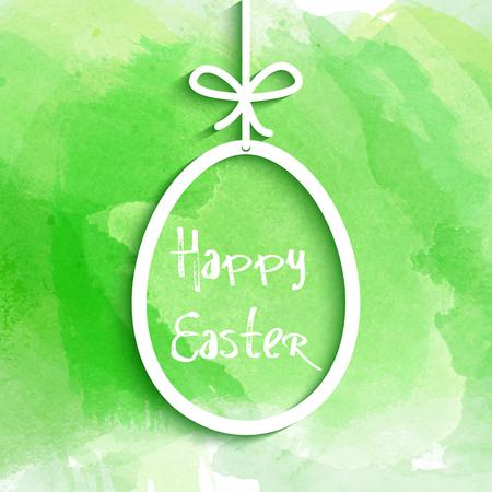 huevo: Colgando de huevos de Pascua en un fondo de la acuarela