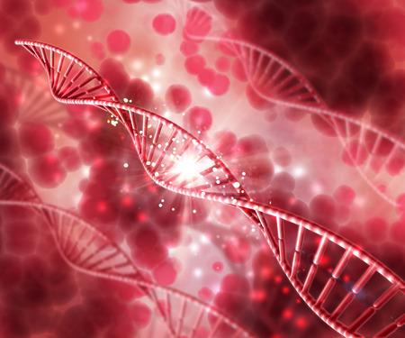 3D render of a medical background with DNA strands Banque d'images