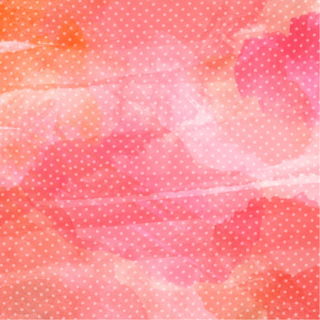 dot pattern: Watercolor background with polka dot pattern