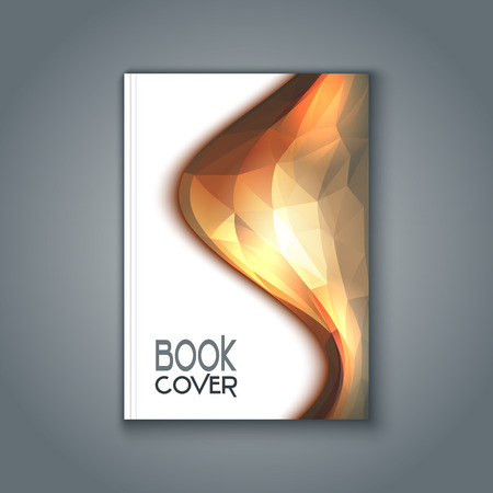 Book cover with an abstract design Фото со стока