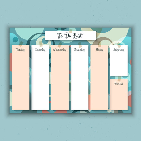 Weekly planner with a retro design